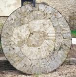 La meule du moulin à eau